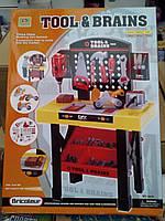 Набор строительных инструментов мастерская Tool Brains для мальчика