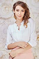 Офисная женская блуза белого цвета