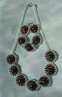 """Комплект намисто і браслет """"Чорні очі"""" (Комплект ожерелье и браслет """"Черные глаза"""") AN-0048"""