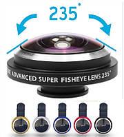 Super fisheye 235° для телефона 2 в 1 (Fisheye, Macro)