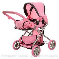 Детская коляска для кукол,  зима-лето с корзиной и сумкой (9379)