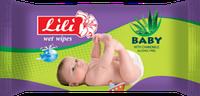 Влажные салфетки для детей Lili с экстрактом алоэ вера, 60 шт.