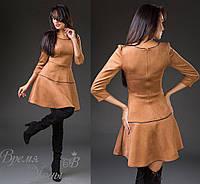 Повседневное светло-коричневое платье