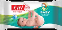 Влажные салфетки для детей Lili  с экстрактом календулы и витамином Е, 60 шт.