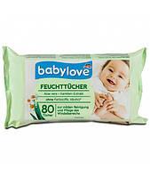 Детские влажные салфетки Babylove с алое вера и ромашкой 80 шт.