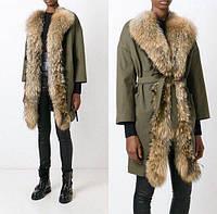 Женская куртка парка мехом