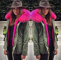 Женская куртка парка с  мехом