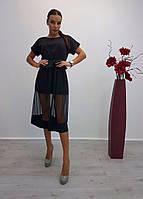 Платье с прозрачным низом