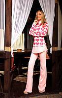 Костюм блузка и брюки женский серце, фото 1