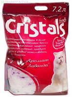Наполнитель селикагелевый для кошачьего туалета Cristals fresh с лавандой 9 л