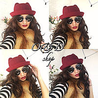 Женская модная фетровая шляпка с ушками (3 цвета)