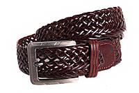 Кожаный плетеный ремень для брюк