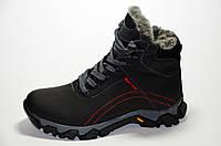 Детские зимние кожаные ботинки 35-39 (Шнурки+Замок)