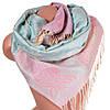 Очаровательный женский двусторонний палантин из пашмины 180 на 70 см ETERNO ES2707-4-1 разноцветный