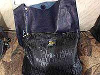 Сумка повседневная женская Furla (Фурла) натуральная кожа черная синяя серая
