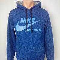 Теплый батник.Толстовка.Олимпийка Nike.С капюшоном на флисе.
