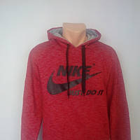 Теплый батник олимпийка толстовка Nike на флисе с капюшоном.