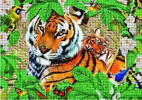 Схема для вышивки бисером Мама тигр и малыш КМР 3158
