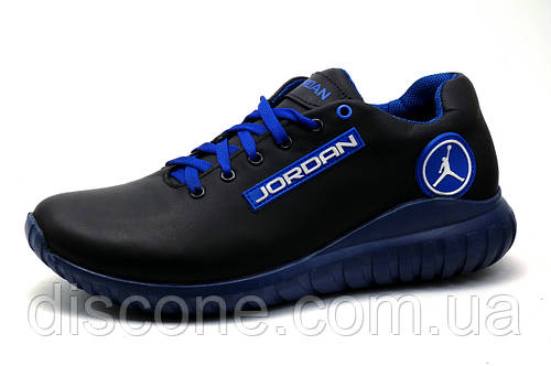 Кроссовки мужские Jordan, натуральная кожа, синие