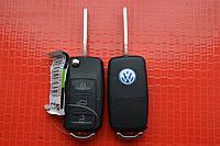Ключ volkswagen Passat, caddy, transporter ключ выкидной 3 кнопки 434Mhz id48. 1JO 959 753 AG