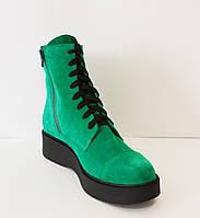 Ботинки зеленые женские Kluchini 3407