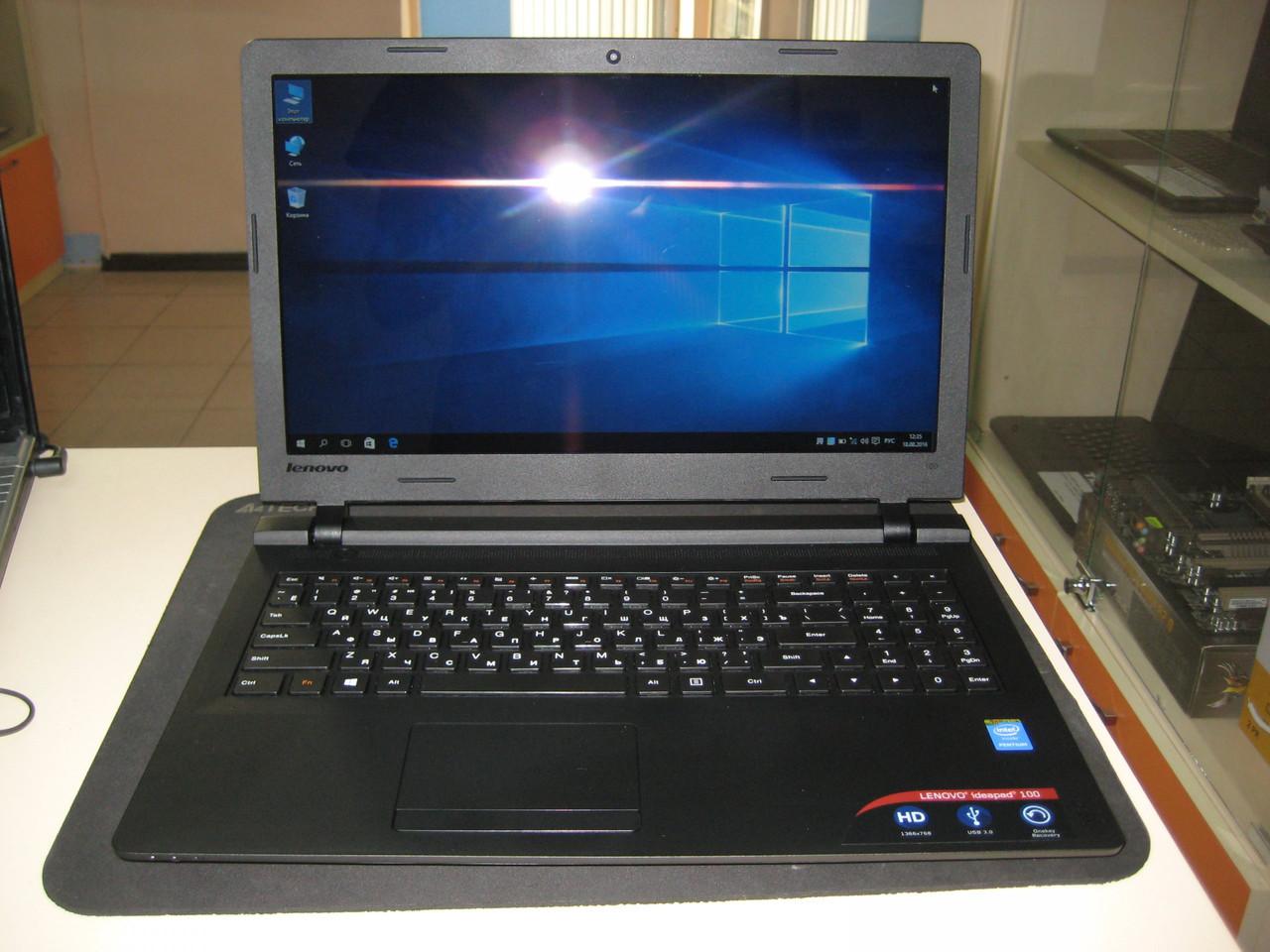 Ноутбук Lenovo 100 +4ядра +4Гб +1тб +Intel HD