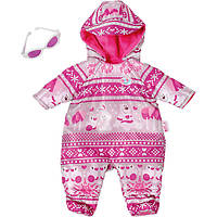 Зимний комплект комбинезон с очками для куклы Baby Born Zapf Creation 43 см