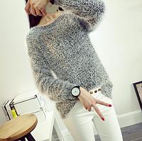 Женский свитер травка ангора