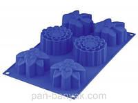 Silico Flex Форма для выпечки маффинов 6 штук 30х17 см силикон Granchio