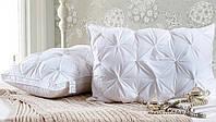 Бамбуковая подушка Prestij Textile с двойным кантом стеганная