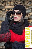 Вязаный комплект (шапка и шарф-хомут)