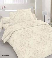 Комплект постельного белья сатин односпальный бежевая абстракция