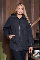 Демисезонная  куртка  Стежка черная размеры 50-60