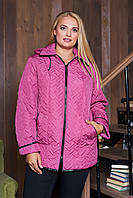 Демисезонная  куртка  Стежка лиловая размеры 50-60