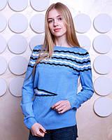 Красивая кофта нежно-голубого цвета