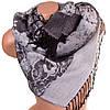 Женский бесподобный двусторонний палантин из пашмины 180 на 71 см ETERNO ES2707-5-5 серый