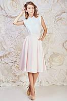 Романтическая женская юбка нежно-розового цвета