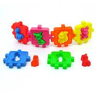 Логический куб-сортер, с животными  50-102 Киндервей