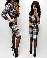 Женское трикотажное платье до колен (5 цветов)