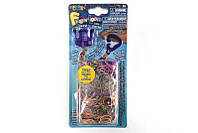 Набор для плетения браслетов из резиночек Finger Loom , фиолетовый RAINBOW LOOM