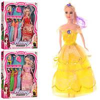 Кукла с нарядом YX030D (48шт) 28см,платья  5шт, сумочка,трюмо,зеркало, 3 вида,в кор-ке, 30-32,5-4см