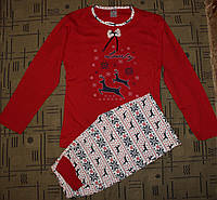 Женская пижама (кофта и штаны). 46-48р. Красная