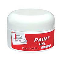 BLAZE Paint Gel - УФ гель-краска, ультра-белый, 15 мл