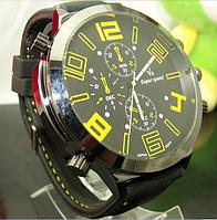 Мужские наручные часы V6 с большим циферблатом 5см (желтые)