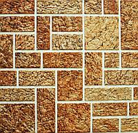 Панели ПВХ камень пиленый коричневый