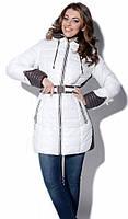 Женская зимняя куртка на тинсулейте LS-8504 белая р.44-48