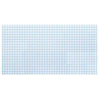 Листовые панели из ПВХ мозаика белая с голубым швом