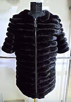 Полушубок из норки на замочке 3/4 рукав-шанель ворот длина 75 см.50р 52р