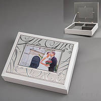 """Элитные Шкатулки для украшений с рамкой для фото """"Светлые чувства"""" свадебный подарок"""