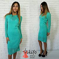 Платье вязаное вязка турецкая пряжа разные цвета SMf670